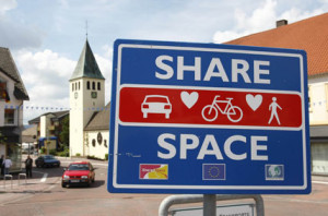Shared space - Ashford, Kent,  UK